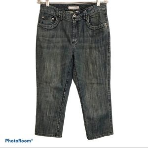 Chicos Platinum Crop Capri Pants Size 1 Small